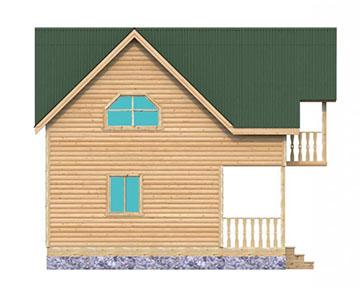 Баня с мансардой : двухэтажная баня с балконом 21 5x7.5.